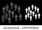 shiny mesh web people crowd... | Shutterstock .eps vector #1997935826