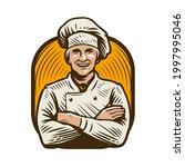 smiling cook character.... | Shutterstock .eps vector #1997995046