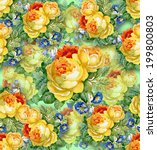 watercolor flower background.... | Shutterstock .eps vector #199800803