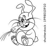 funny  unusual  crazy rabbit... | Shutterstock .eps vector #1998010910