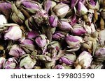 Dried Rose Flowers As Background