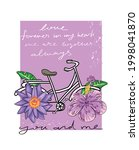 love quotes  purple flowers and ...   Shutterstock .eps vector #1998041870