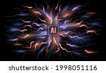 abstract blue technological...   Shutterstock .eps vector #1998051116