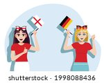 england and germany flags....   Shutterstock .eps vector #1998088436