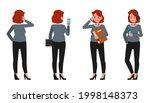 businesswoman working in office ... | Shutterstock .eps vector #1998148373