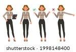 businesswoman working in office ... | Shutterstock .eps vector #1998148400