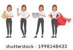 businesswoman working in office ...   Shutterstock .eps vector #1998148433