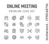 premium pack of online meeting...