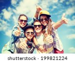 summer holidays and teenage... | Shutterstock . vector #199821224