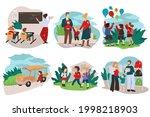 parents preparing kids for...   Shutterstock .eps vector #1998218903