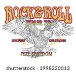 rockstar tour poster vector... | Shutterstock .eps vector #1998220013