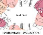 frame  border of hairdressing...   Shutterstock .eps vector #1998225776