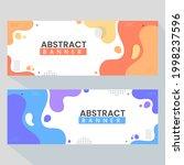 creative abstract  banner web... | Shutterstock .eps vector #1998237596