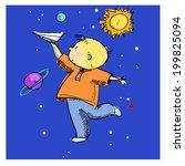 vector illustration of a boy...   Shutterstock .eps vector #199825094