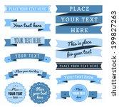 ribbons vintage vector set in... | Shutterstock .eps vector #199827263