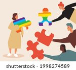 lgbtq couple  partner choice....   Shutterstock .eps vector #1998274589