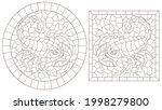 a set of contour illustrations...   Shutterstock .eps vector #1998279800