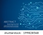 abstract technology circuit... | Shutterstock .eps vector #199828568
