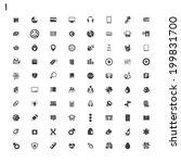 black icons | Shutterstock .eps vector #199831700