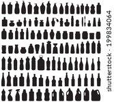 bottle icon collection   vector ...   Shutterstock .eps vector #199834064