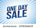 one day sale word concept...