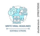 write viral headlines concept... | Shutterstock .eps vector #1998378500
