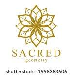 flower of life ancient symbol...   Shutterstock .eps vector #1998383606