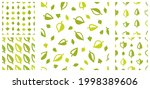 stylish cartoon leaves seamless ...   Shutterstock .eps vector #1998389606