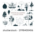 mystical leaves collection.... | Shutterstock .eps vector #1998400406