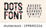 dots font art alphabet letters. ...   Shutterstock .eps vector #1998401216