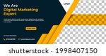 business banner template design.... | Shutterstock .eps vector #1998407150