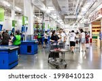 Small photo of Shanghai, China - June 24, 2021: Consumers shop for imported goods from around the world at a Sam's Club. Sam's Club is a high-end members-only store owned by Wal-Mart, a Fortune 500 company.