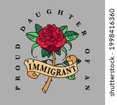 proud daughter of an immigrant | Shutterstock .eps vector #1998416360