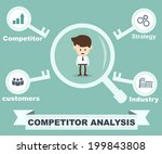 competitor analysis concept  | Shutterstock .eps vector #199843808