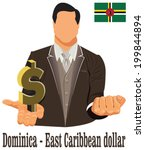 dominica national currency east ... | Shutterstock .eps vector #199844894