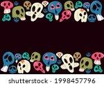 vector dia de los muertos. a...   Shutterstock .eps vector #1998457796