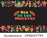 vector dia de los muertos. set...   Shutterstock .eps vector #1998457799
