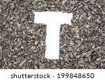 alphabet from sunflower seeds | Shutterstock . vector #199848650