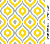 seamless ikat ogee background... | Shutterstock .eps vector #199849604