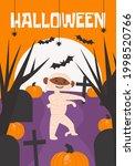 halloween poster  greeting or... | Shutterstock .eps vector #1998520766