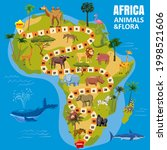 africa continent map board game ... | Shutterstock .eps vector #1998521606