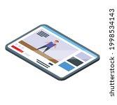 fitness blog tablet icon....   Shutterstock .eps vector #1998534143