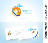 airplane emblem sign  plane... | Shutterstock .eps vector #199856939