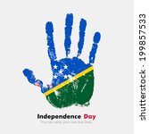 independence day. grungy style. ... | Shutterstock .eps vector #199857533