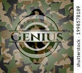genius written on a camouflage...   Shutterstock .eps vector #1998578189