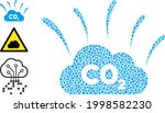 mosaic co2 smoke emission icon...   Shutterstock .eps vector #1998582230