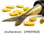 Fish Oil Capsules And Fish Tai...
