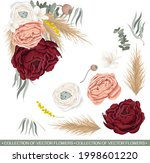 vector floral composition in...   Shutterstock .eps vector #1998601220