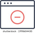 webpage  browser  remove icon...   Shutterstock .eps vector #1998604430