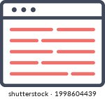 webpage  article  content icon...   Shutterstock .eps vector #1998604439